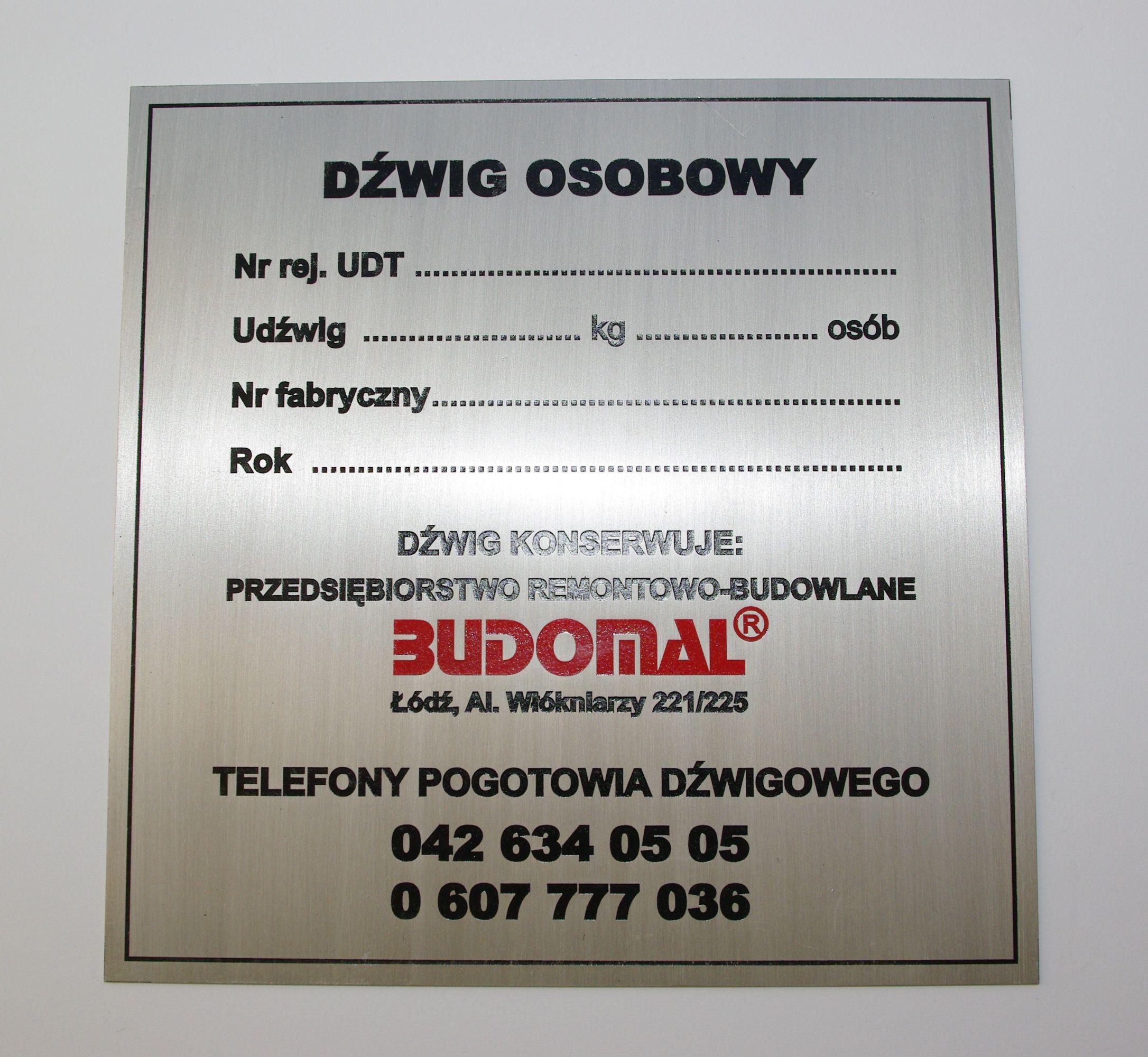 Genialny ZPK - tabliczki znamionowe znaczki medale plakietki szyldy NO26
